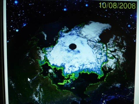 Hollow Earth . Pictures of North Pole.
