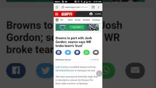 Josh Gordon coming to the Patriots would be a excellent idea