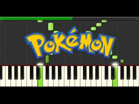 Pokemon - Pallet Town Theme (Piano Tutorial, Synthesia)