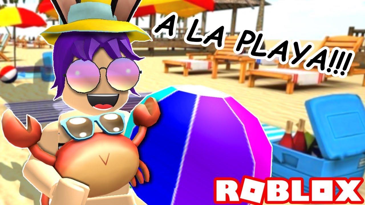 Fiesta En La Playa Roblox Beach House Roleplay En Espanol Youtube Me Voy A La Playita Roblox Youtube