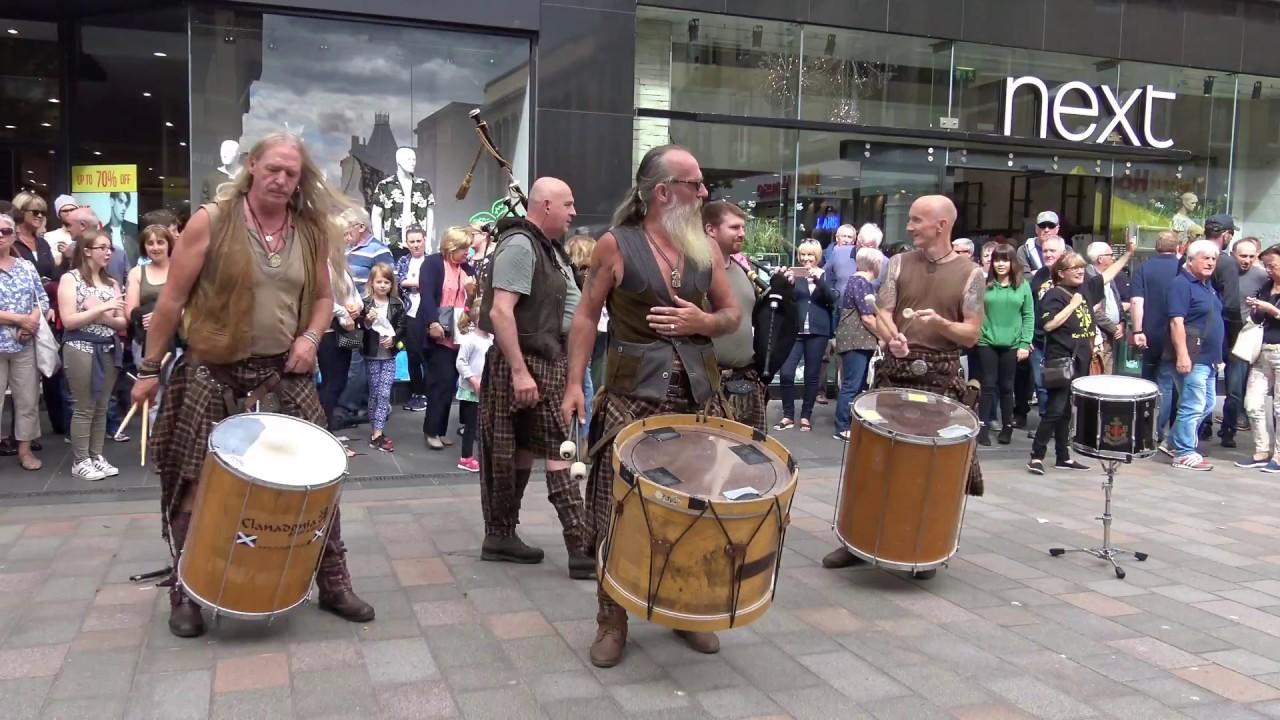 "Download Clanadonia, Scottish tribal band play ""Ya Bassa"" live during 2017 Medieval Festival - 4K UHD"