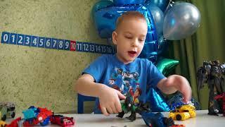 Распаковка и обзор Роботы Hasbro Transformers Рид Тим-Комбайнер