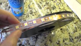 5050 waterproof flexible led light strip review for undercabinet lighting
