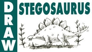 How to draw a Stegosaurus - spoken tutorial