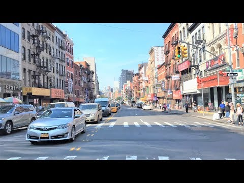 Driving Downtown - Lower Manhattan - New York City NY USA