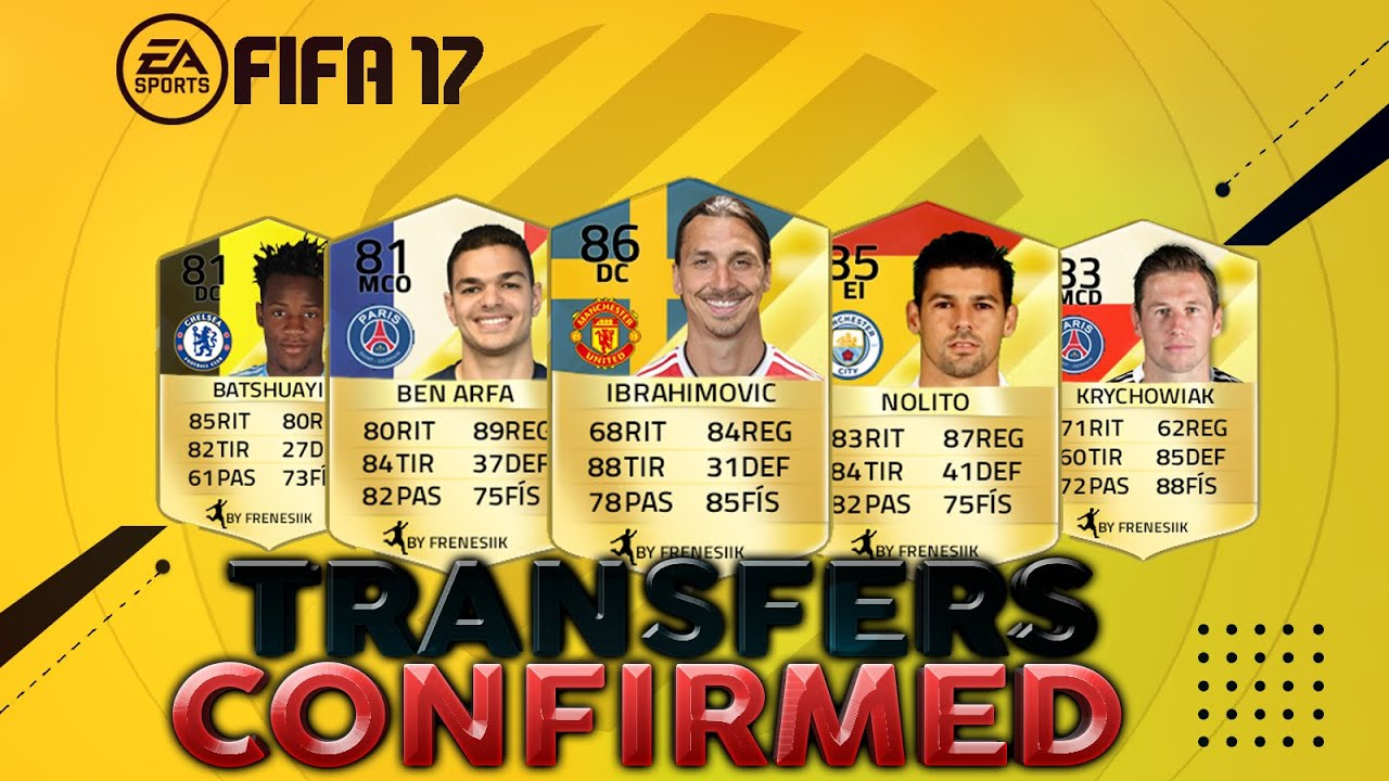 fifa 17 confirmed transfers players ratings prediction. Black Bedroom Furniture Sets. Home Design Ideas