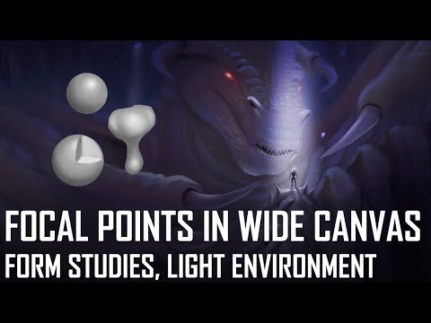Critique Hour! Focal Points in a Wide Canvas + Form studies, light environment!