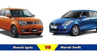 New Maruti Ignis Vs Maruti Swift – Comparison | Price,  Specifications, Mileage, Dimensions