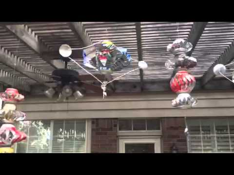 Coke can wind spinners - YouTube