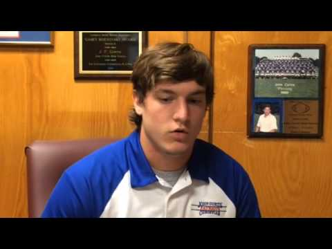 Curtis outside linebacker/defensive end Mike Corcoran discusses his team, its game versus Karr.