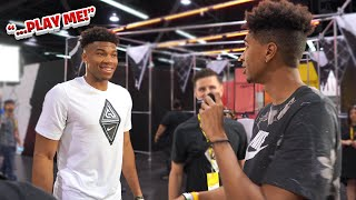 NBA MVP Giannis Antetokounmpo CALLED ME OUT TO PLAY 1V1?!