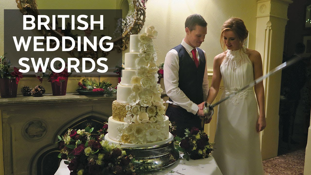 cutting wedding cake with sword cutting wedding cakes with swords carne travels uk vlog 13304