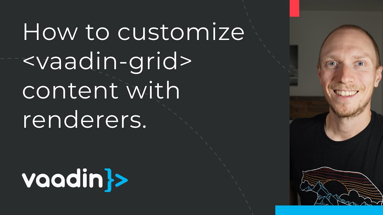 Vaadin Grid renderers: customize cells and show a details row (Fusion)