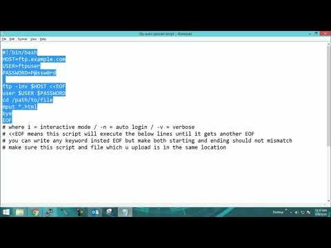 Shell Script Ftp Auto Upload