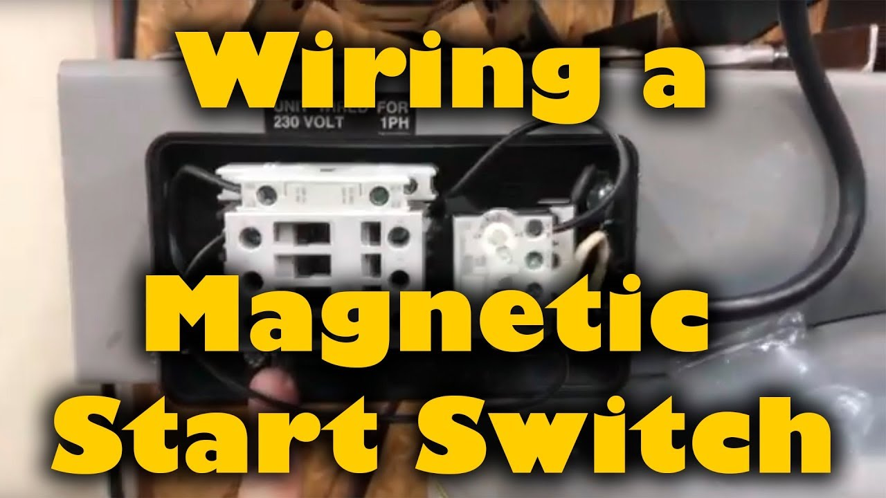 Magnetic Start Switch Wiring To A 5hp Compressor