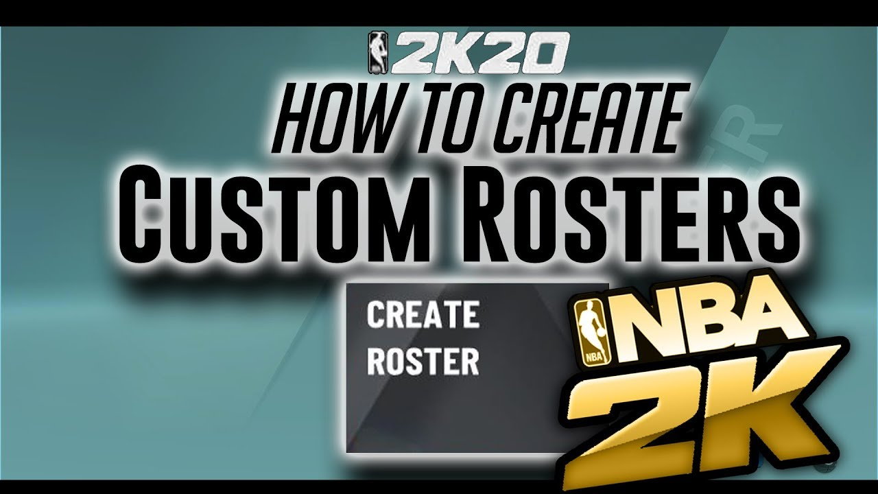 NBA 2K20 - How to Create Custom Rosters extensive tutorial