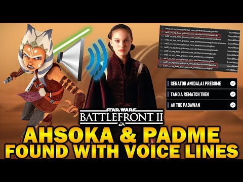 AHSOKA & PADME IN THE FILES WITH VOICE LINES! Star Wars Battlefront 2 thumbnail