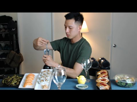 [mukbang with THIEN]: Sushi and Red Wine