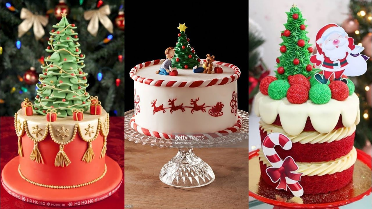 Beautiful Christmas Tree Cake Decoration Ideas Christmas Cake Designs Kashmirian S Art Youtube