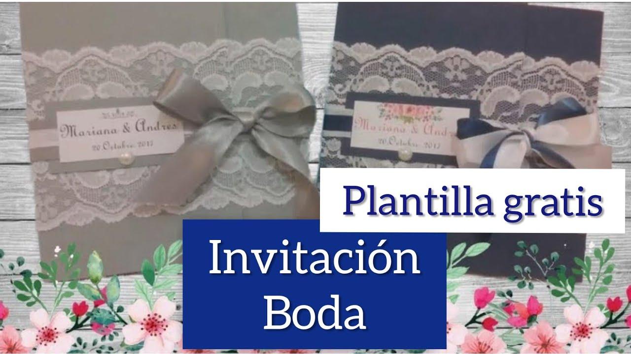 haz una Invitación de boda encaje Romántica -elegante (plantillas ...