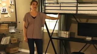 Duro Z Bunk Bed Loft With Desk Black - Product Review Video