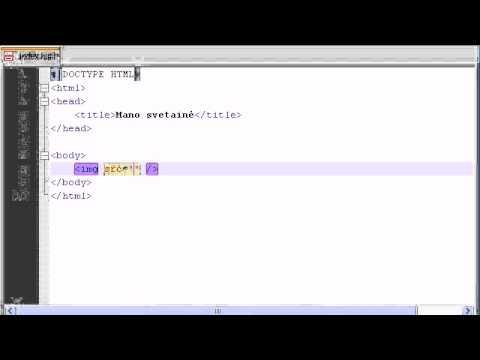 HTML CSS Pamokos - 9 - Paveikslėlių Atvaizdavimas