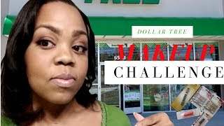 Dollar Tree Make-up Challenge| Beauty on a Budget| Collaboration with Welcome to Tiffiney's