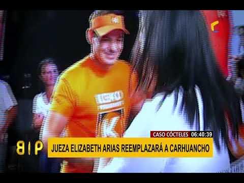 Jueza Elizabeth Arias reemplaza a Concepción Carhuancho en el caso Cócteles