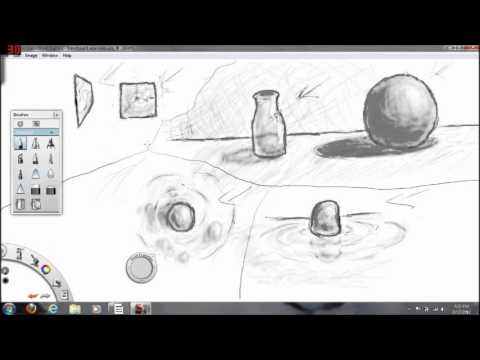 Pencil Drawing Tutorials: the basics of translucent and transparent shading.