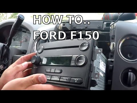 2000 ford f150 radio removal doovi. Black Bedroom Furniture Sets. Home Design Ideas