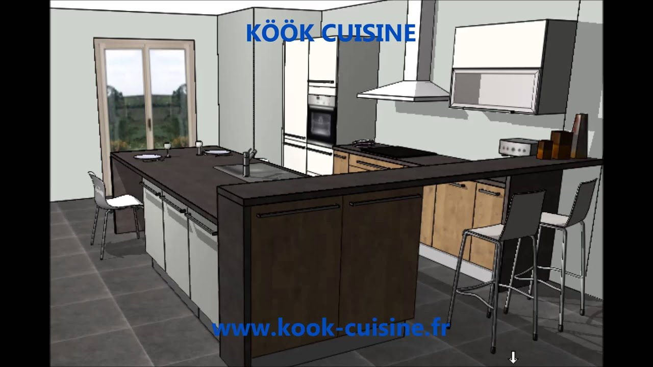 Kook cuisine cuisiniste 44 nantes sainte pazanne meubles for Amenagement cuisine 15m2