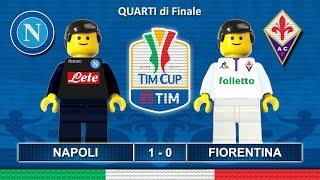 Tim Cup 2017 • NAPOLI FIORENTINA 1-0 • Coppa Italia 2017 ( Film Lego Calcio ) Sintesi Goal