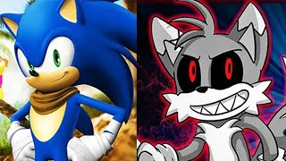 Sonic Boom vs Sonic Exe Tails