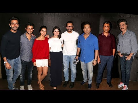 Secret Superstar Movie GRAND Premiere Full Video HD - Aamir,Nawzuddin,Sachin