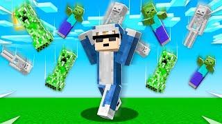 Minecraft, But it's RAINING MOBS! (BAD)