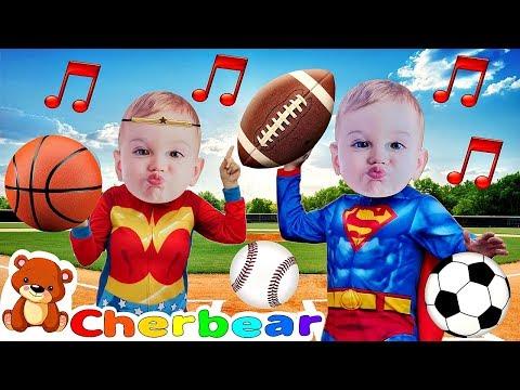 """I GOTTA BALL"" Song New Kids Songs 2018 Superhero Babies Sing Along Baby Superheroes CHERBEAR SONG"
