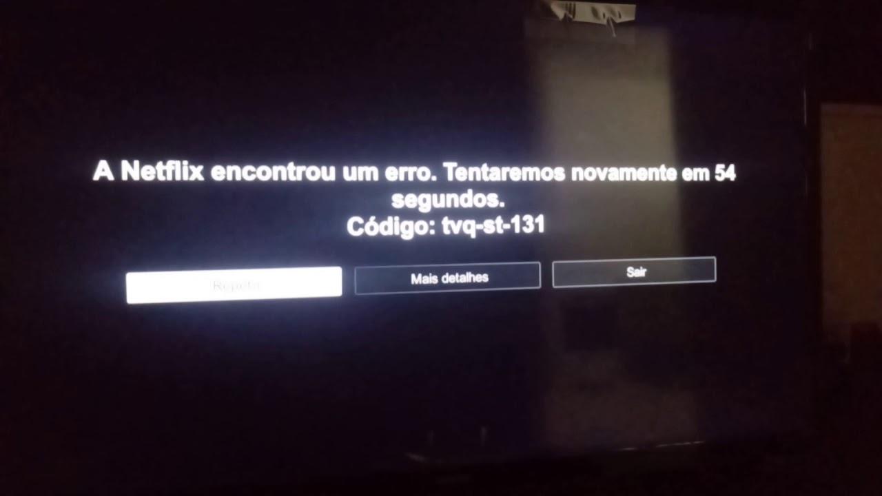 Erro ao entrar na netflix TV SAMSUNG SMART 32 codigo:tvq-st