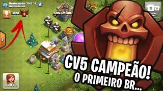 INCRÍVEL! PRIMEIRO CV5 BR NA LIGA CAMPEÃO! CLASH OF CLANS
