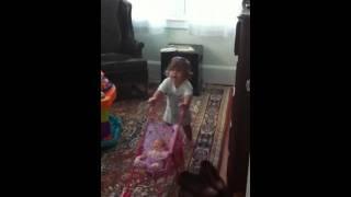 Eliza & her stroller