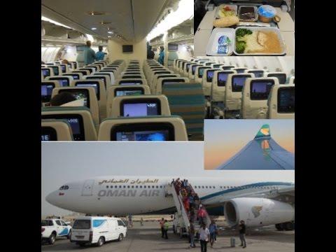 "Oman Air inflight Frankfurt-Muscat - ""Technical Stop in Milan"" Part Two"