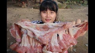 Yummy Pig Intestine Crunchy Cooking - Crunchy Pig Intestine Recipe | Cooking skills