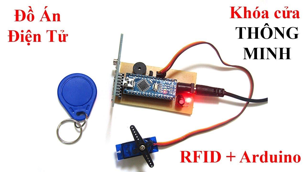 Mạch Đóng Mở Cửa Bằng Khóa RFID _ Arduino