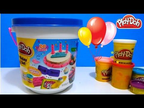 ألعاب صلصال الأطفال - تورتة من الصلصال و عيد ميلاد تيليتابيز! PlayDoh Birthday