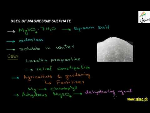Uses Of Magnesium Sulphate