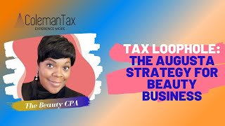 Tax Loophole: The Augusta Strategy