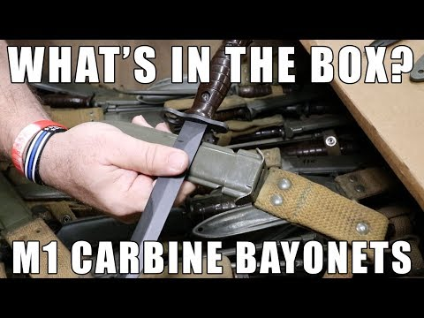 What's In The Box? M1 Carbine Bayonets - Our New Deal Of The