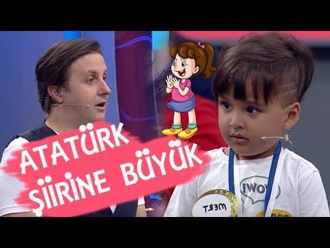 ATATÜRK'E ŞİİR OKUDU BÜYÜK ALKIŞ ALDI