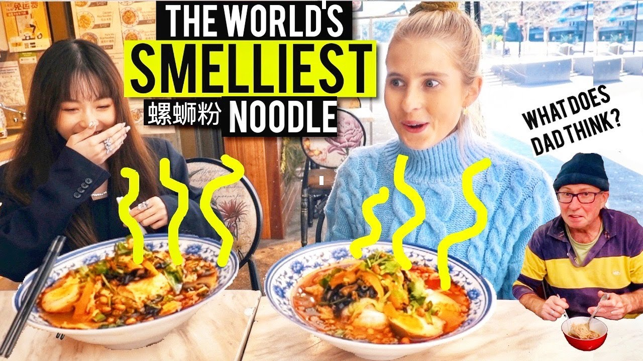 I tried the world's SMELLIEST noodle, Luosifen 螺蛳粉. It's made from snails...