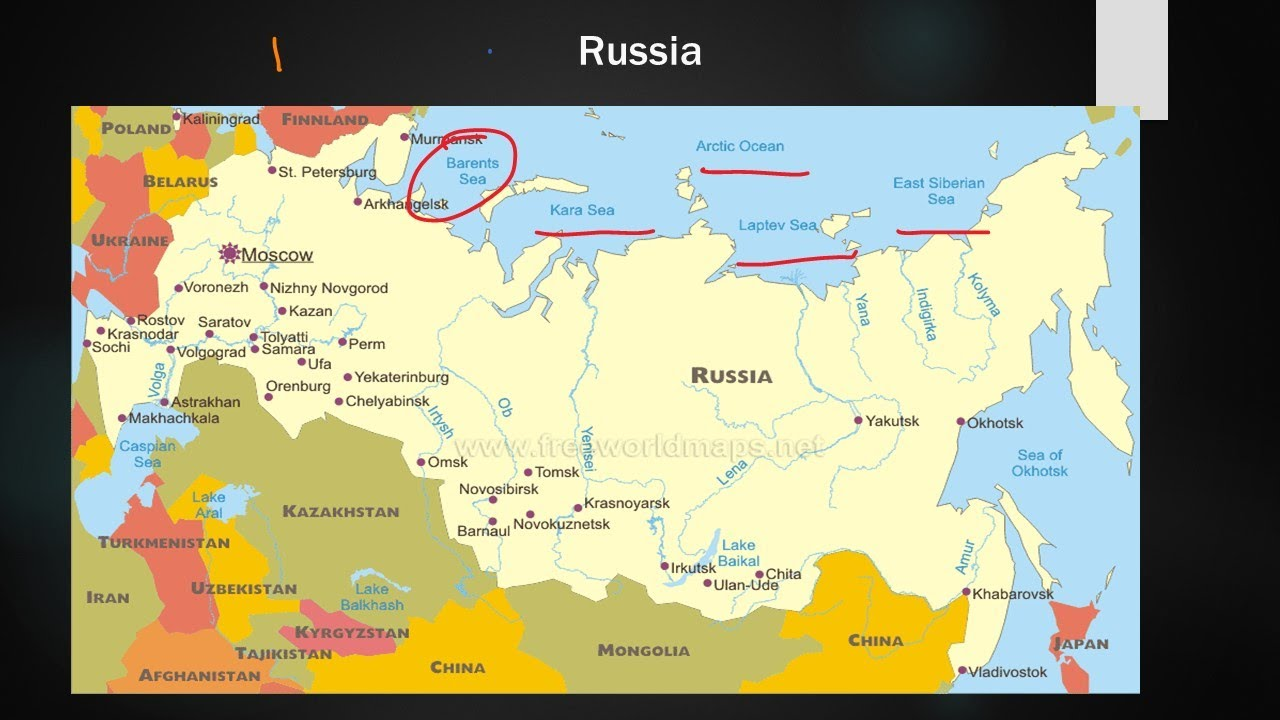 Part 6, Russia physical and Political Mapping Discussion - YouTube