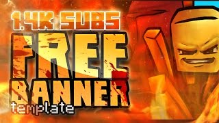 Free Minecraft Banner Template [1.4k subs]